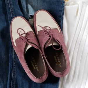 Hush Puppies suede loafers